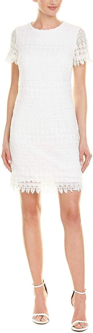 LAUNDRY BY SHELLI SEGAL Women's Short Sleeve Lace Dress