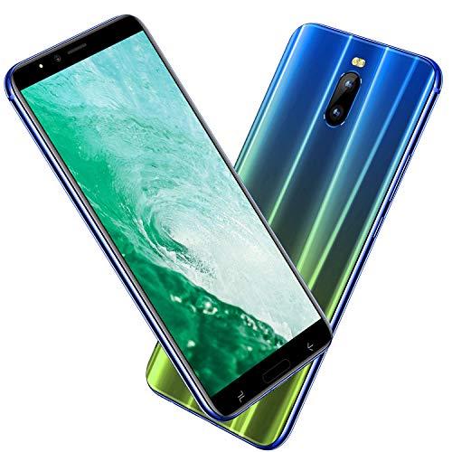 Smartphone Pas Cher 4G, J6(2019) 6.0 Pouces HD 3Go RAM + 16Go ROM/128Go Expansion Android 8.1 4800mAh 8MP+5MP Dual SIM Face ID GPS Téléphone Portable debloqué Pas Cher sans Forfait (Dégradé Bleu)