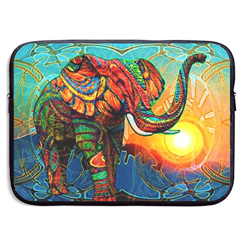 Waterproof Laptop Sleeve 13 Inch, Retro Sunset Elephant Print Business Briefcase Protective Bag, Computer Case Cover for Ultrabook, MacBook Pro, MacBook Air, Asus, Samsung, Sony, Notebook