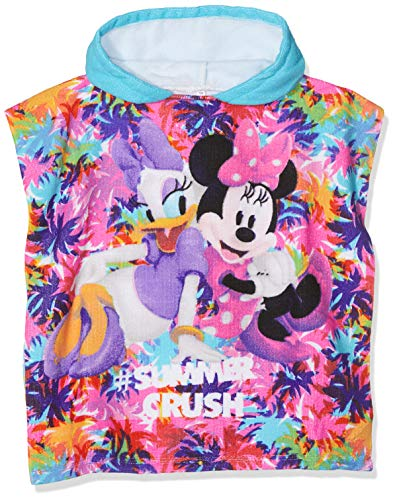 Disney Minnie Mouse Albornoz, Blanco (Turquoise Optic White
