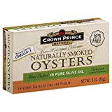 Crown Prince Natural, Naturally Smoked Oysters, in Pure Olive Oil, 3 oz (85 g)(pack of 3)