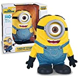 MINIONS Thinkway Toys Illumination Entertainment Movie Exclusive 9 Inch Tall Electronic Figure - Tumblin' Stuart with Movie Voice and Talk/Respond to Your Voice