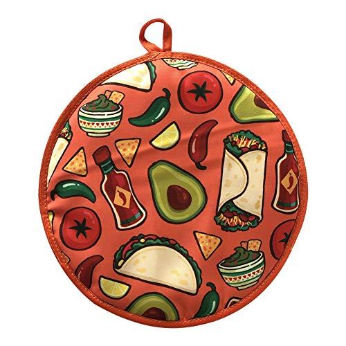 Tortilla Warmer Beutel, Taco 30,5 cm Isolierter Stoffbeutel Hält Sie Bis Zu Einer Stunde Warm, Für Mais, Mehl Taco, Burrito, Quesadilla, Brot, Roti Tortillero (B)