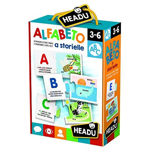 Headu- Alfabeto a Storielle Giochi Educativi, Multicolore, IT22984