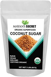 Mayan's Secret USDA Certified Organic Coconut Sugar, 2 Lbs - Low Glycemic | Unrefined | Trace Minerals