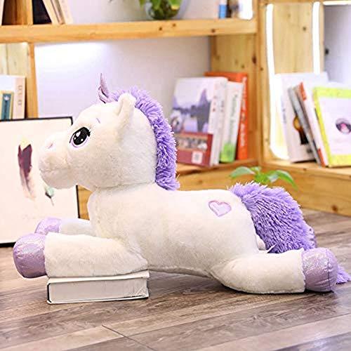 Gigantes del unicornio juguetes de peluche lindo del caballo blanco rosa suave relleno muñeca animales grandes juguetes para los niños de la muchacha del regalo de cumpleaños 60-110Cm,Blanco,80cm