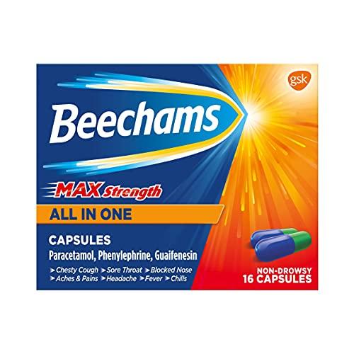 Beechams Cold & Flu Medicine, Cough & Congestion Relief Capsules, Max...