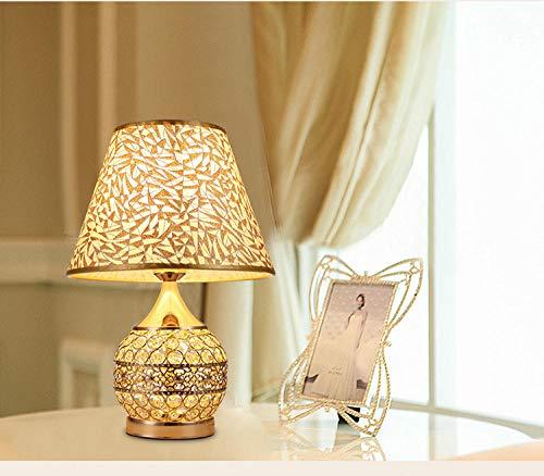 Lámparas de mesa modernas Lámpara de mesa de cristal de tela lámpara de mesita de nocheLED luz cálida Decoración Luminaria Dormitorio Lámpara de escritorio denocheSala de estarA