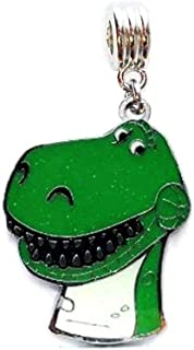 Heavens Jewelry REX T REX T-REX Toy Story Charm Dinosaur Slider Pendant ADD to Your Necklace Clothing Accessories DIY Projects ETC