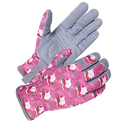 SKYDEER Women Working Gloves with Deerskin Leather Suede for Gardening, Yard and Daily Work (SD6612)