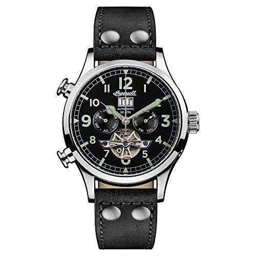 Ingersoll Herren Analog Automatik Uhr mit Leder Armband I02102