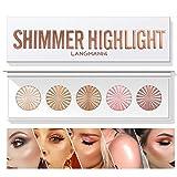 Paleta de maquillaje Qianren Face Bronzers and Highlighters, Face Contour Powder, Make Up Blusher, Glow Highlight Contour Palette (5 colores)
