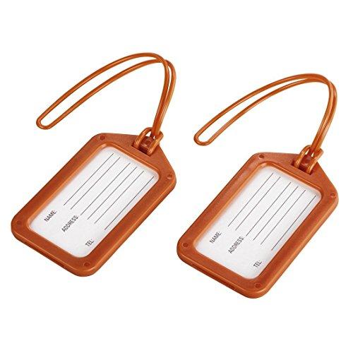 Hama 00105324 - Etiquetas para Equipaje (2 Unidades), Color Naranja