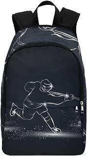 Backpack Shoulder Bag Ice Hockey Hockey Enthusiast for Men Women Teachers Bookbag Laptop Backpack Comfort Middle School Beach for Camper