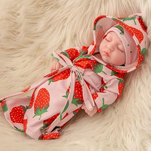 FR&RF 25Cm Reborn Bathe Doll 10.6 Pulgadas de Cuerpo Completo Silicona Simulación Baby Dolls Juguetes para bebés recién Nacidos para niñas Playmate Niño Cumpleaños, 8,Open Eye Doll