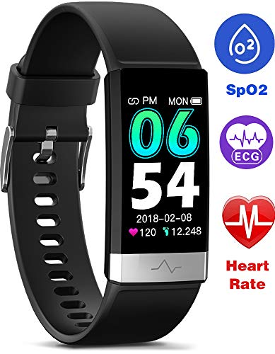 MorePro Fitness Tracker HRV,HD Color Screen Activity Tracker with Heart Rate Blood Pressure,Waterproof Health Watch,Sleep Monitor Pedometer Step Counter for Men Women Android iOS