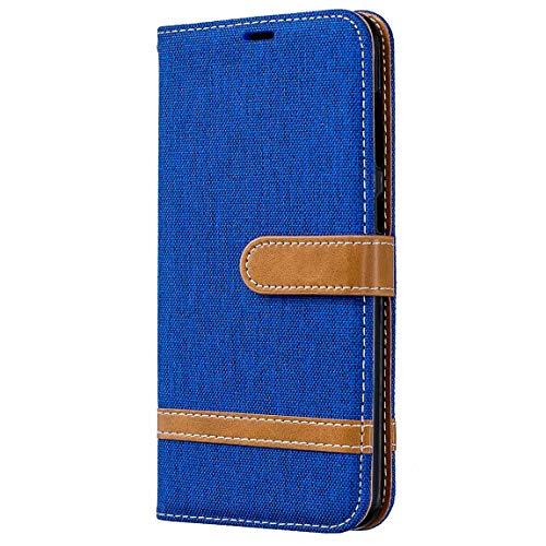 Dclbo Hülle für Samsung Galaxy A5 2016 / A510,Handyhülle Denim Design Handytasche Hülle Kunstleder Flip Case Ledertasche Klapphülle Magnet Schutzhülle für Samsung Galaxy A5 2016 / A510-Blau