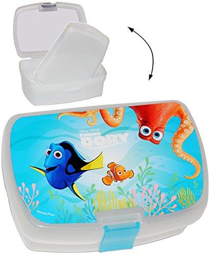 alles-meine.de GmbH Lunchbox / Brotdose -  Findet Nemo - Fisch Dory  - mit extra Einsatz / herausnehmbaren Fach - Brotbüchse Küche Essen - für Mädchen & Jungen - Kinder Vesperd..