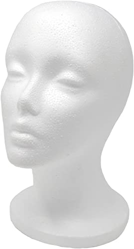 "A1 Pacific Female Styrofoam Mannequin Head, 11"" L"