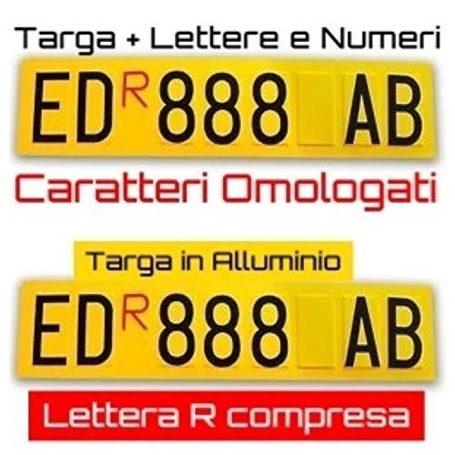 ShopGraf Targa ripetitrice per rimorchi con Adesivi Lettere e Numeri Lettera R Rossa Compresa...