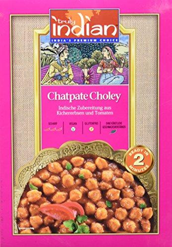 TRULY INDIAN Punjabi Chatpate Choley, Indisches Fertiggericht mit Kichererbsen und Tomaten (6 x 300 g)