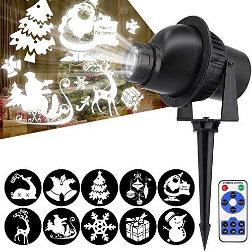 WSXXN - Lámpara de proyección RF, superbrillante, modelo de rotación 3D, con mando a...