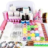 Coscelia 9 UV Lámpara de Secado Kit UV Lámpara UV Gel Brush Lápices Kit para Uñas Artes DIY Uña Arte