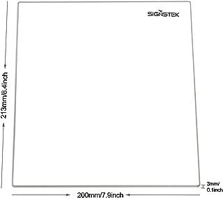 Signstek 3D Printer MK2 MK3 Heated Bed Tempered Borosilicate Glass Plate 213x200x3mm