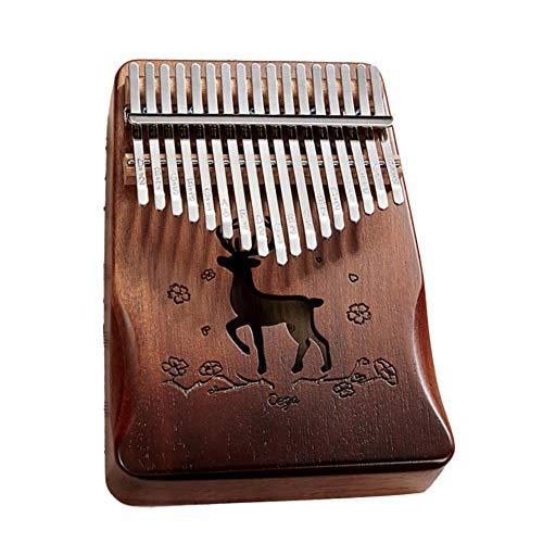 JEMPET CEGA Kalimba Daumen Klavier 17 Tasten Marimba, tragbare Mbira Finger Klavier Geschenke für Kinder und Erwachsene Anfänger