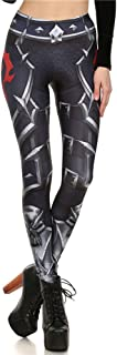 YL&Sports Women Steampunk Retro Leggings Comic Cosplay 3D Printed Polyester Gothic Trousers Capris Pants