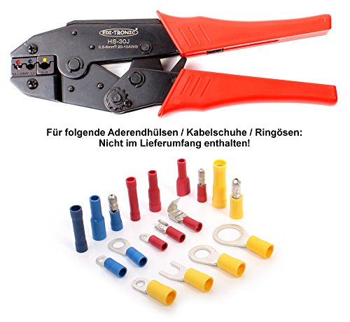 KFZ Crimp-Zange für isolierte Kabelschuhe Auto Car HiFi HS-30J