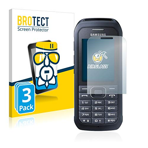 BROTECT Panzerglas Schutzfolie kompatibel mit Samsung Xcover 550 (3 Stück) - AirGlass, 9H Härte, Anti-Fingerprint, HD-Clear