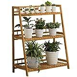 Soporte de flores Escalera de 3 niveles para plantas grandes, estante para estantes de macetas de...