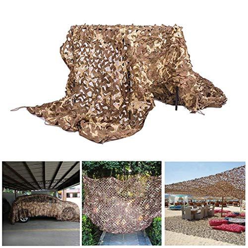 YINUO - Sombra de malla de camuflaje para protección solar, toldo de tela Oxford, para coche, color marrón, 3 x 5 m, para decoración de pared de jardín, acampada, ejército militar, fotografía al aire libre, caza