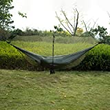 SHIER Hamacas Zipper Hook Hiking Bug Mosquito Accessories 360 Degree Protection Hammock Net Easy Use Outdoor Double Separating Lightweight,Green