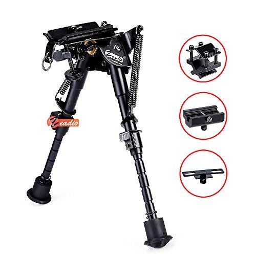 Zeadio kippbar schwenkbar Zweibein mit Schlinge-Halterung und 3 Adapter (15 bis 23 cm / 6 bis 9 Zoll)
