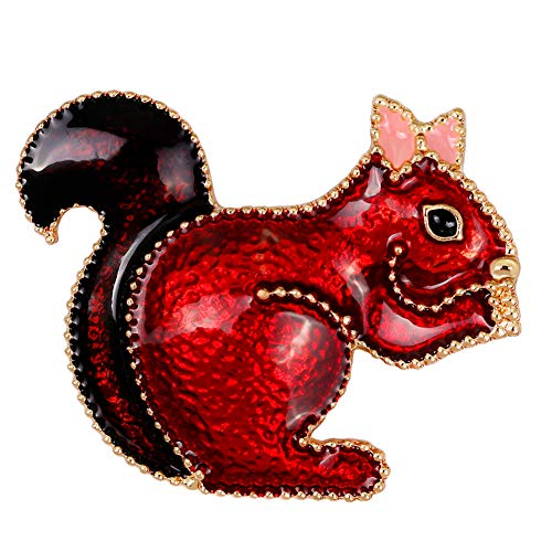 YAZILIND Lovely Squirrel Brooch Pins Women Breastpin Corsage Girls Jewellery Gift