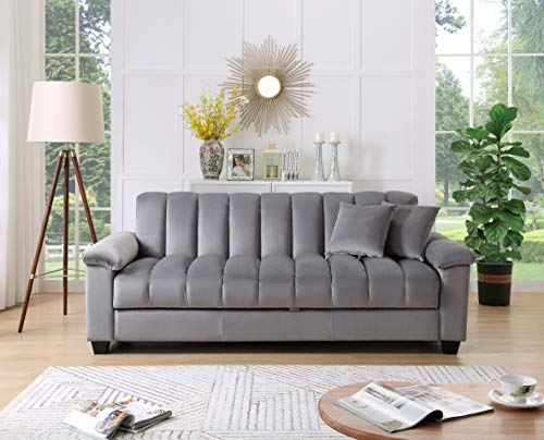 Legend Furniture Comfortable Velvet Sleeper Sofa Bed 2...