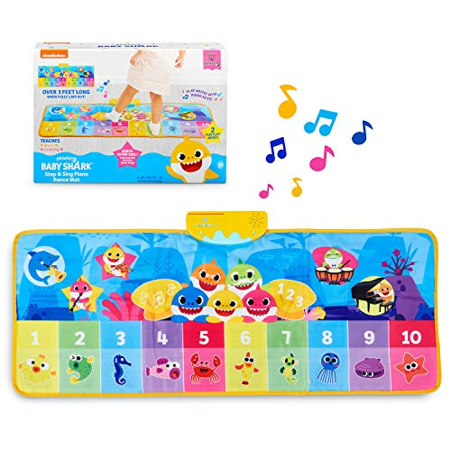 WowWee Pinkfong Baby Shark Official - Step & Sing Piano Dance Mat, Multicolor