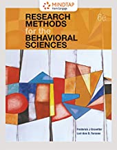 MindTap Psychology, 1 term (6 months) Printed Access Card for Gravetter/Forzano's Research Methods for the Behavioral Sciences, 6th
