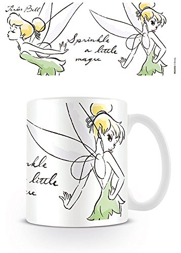 empireposter Tinkerbell - Magic - Disney Keramik Tasse Kaffeebecher - Größe Ø8,5 H9,5cm