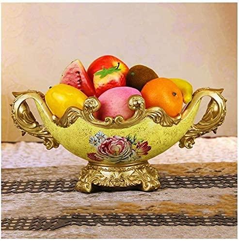 Gymqian Tarta Tierre Soporte Fruta Plato Decoración Hogar Cesta de Frutas, Cocina Encimera Fruta Tazón Vegetal Holder Fruit Bowl, Mesa de Sala de Estar Decoración Artesanal Gama alta