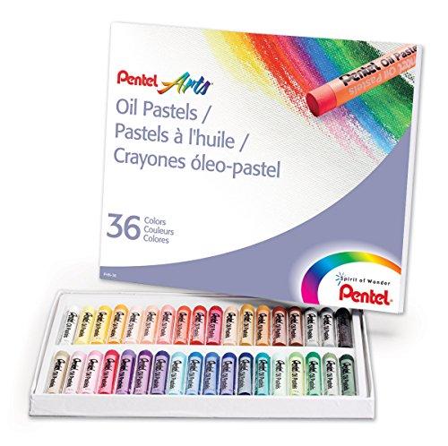 Pentel Olio pastelli 36/Pkg-Assorted Colors, Altri, Multicolore