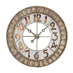 Sterling Industries 128-1001 Round Metal Outdoor Wall Clock. - Best Price Most Popular New Brand Great Reviews Low Priced Big Savings Gift Present Men Women Kids Trending Cool