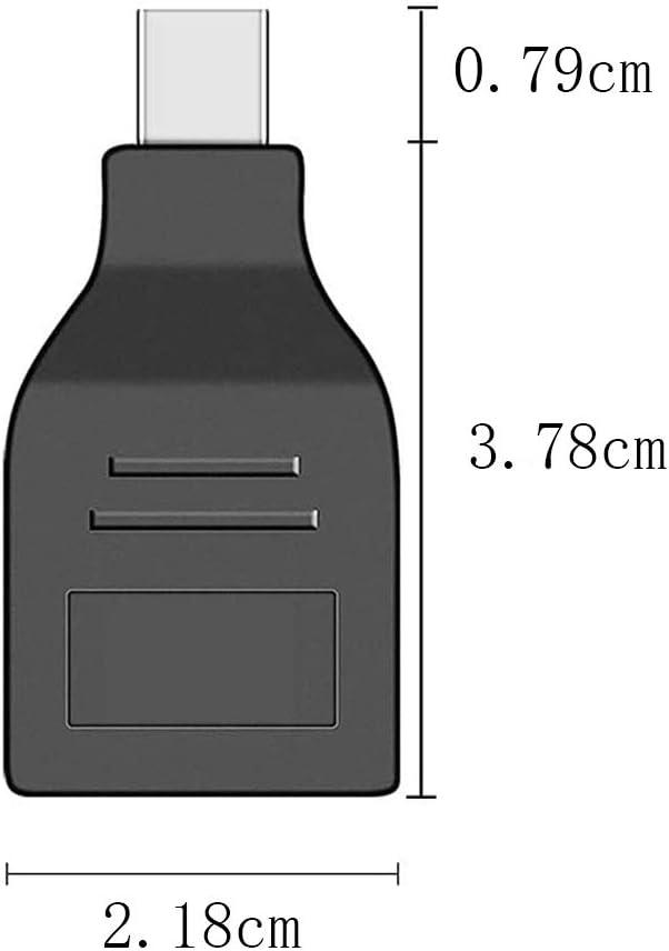 VMOJO Mini Displayport Stecker auf Displayport Buchse Adapter Schwarz Adapter Thunderbolt Mini DP auf DP