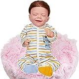 JXWANG Bebe Realista - 18 Pulgadas Bebe Reborn Silicona NiñA, Bebe Reborn NiñA Dormido