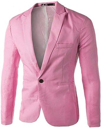 Amazon.es: Moda Chaquetas Hombre - Rosa