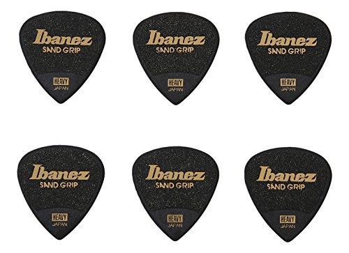IBANEZ Grip Wizard Series Sand Grip Flat Pick - schwarz 6 Stück (PPA16HSG-BK)