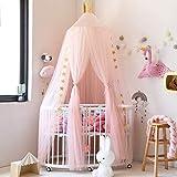 AOYAR Ciel de lit Enfant Décoration de Chambre D'enfant en Forme de Dôme, Fille Maison de Jeux, Moustiquaire pour lit Enfants