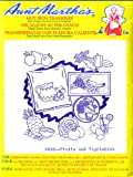 Fruits and Vegetables Aunt Martha's Hot Iron Embroidery Transfer
